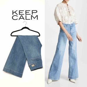 Paige Sutton High Rise Wide Leg Jeans Remedy Blue
